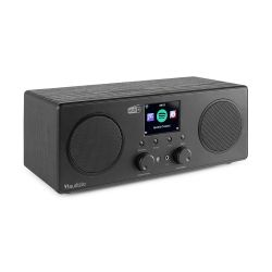 Audizio Bari Black Ραδιόφωνο Wi-Fi Internet STEREO DAB+ FM με Bluetooth και Ξυπνητήρι