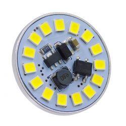 GloboStar® 76107 Λάμπα G4 LED SMD 2835 3W 360lm 120° DC 12-24V Back Pin Ψυχρό Λευκό 6000K Dimmable