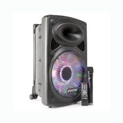 Fenton FPS12 Φορητό επαναφορτιζόμενο ηχείο 12'' με ισχύ 250 Watt Max με MP3 , USB , SD & Bluetooth - 1 Ασύρματο Μικρόφωνο