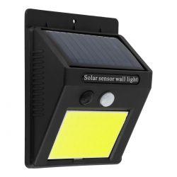 GloboStar® 71495 Αυτόνομο Ηλιακό Φωτιστικό LED COB 10W 1000lm με Ενσωματωμένη Μπαταρία 1200mAh - Φωτοβολταϊκό Πάνελ με Αισθητήρα Ημέρας-Νύχτας και PIR Αισθητήρα Κίνησης IP65 Ψυχρό Λευκό 6000K