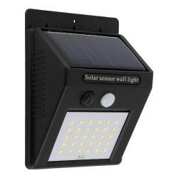 GloboStar® 71500 Αυτόνομο Ηλιακό Φωτιστικό LED SMD 6W 600lm με Ενσωματωμένη Μπαταρία 1200mAh - Φωτοβολταϊκό Πάνελ με Αισθητήρα Ημέρας-Νύχτας και PIR Αισθητήρα Κίνησης IP65 Ψυχρό Λευκό 6000K