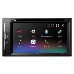 "Pioneer AVH-A240BT Οθόνη multimedia 2-Din με οθόνη 6.2"",  Bluetooth, USB, εξωτερικό μικρόφωνο, 3 εξόδους προενίσχυσης ,CD/DVD player"