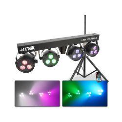 Σέτ φωτισμού Max LED PARBAR 4-Way 3x 4-in-1 RGBW